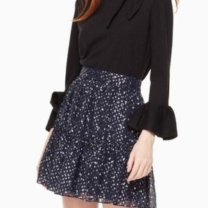 kate spade Skirts - KATE SPADE Night Sky Silk Lurex Dot Skirt